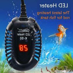 25-100W LED Aquarium Digital Heater Fish Tank Submersible Ad