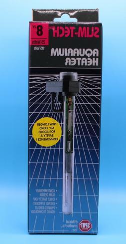 "25W Aquarium Heater Slim Tech Fish Tank Adjustable Heater 8"""