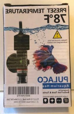 PULACO 25W Small Aquarium Betta Heater With Free Thermometer