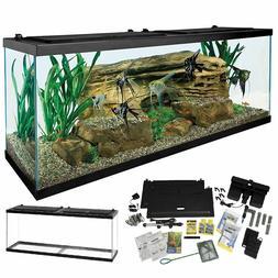 Complete 55-Gallon Aquarium Kit Large LED Light Fish Tank He