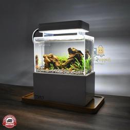 Fish Tank Aquarium Betta Bowl with Water Filtration Quiet Ai