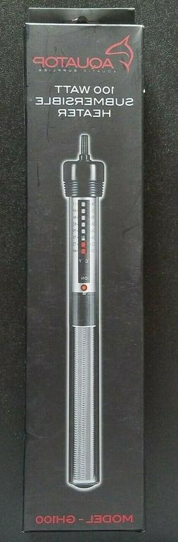 AQUATOP GH100 100w Aquarium Submersible Glass Heater for
