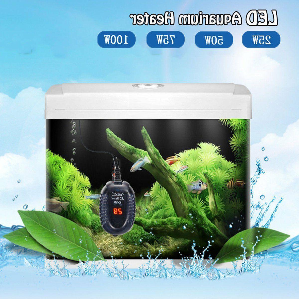 25-100W Tank LED Digital Submersible Adjustable