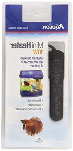 Aqueon Fish Tank Mini Heater, 10-watt, Plastic