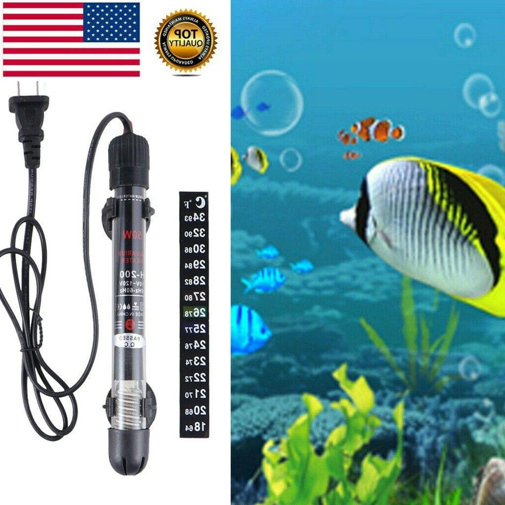 Aquarium Heater Submersible Marine Tropical Adjust Knob NEW