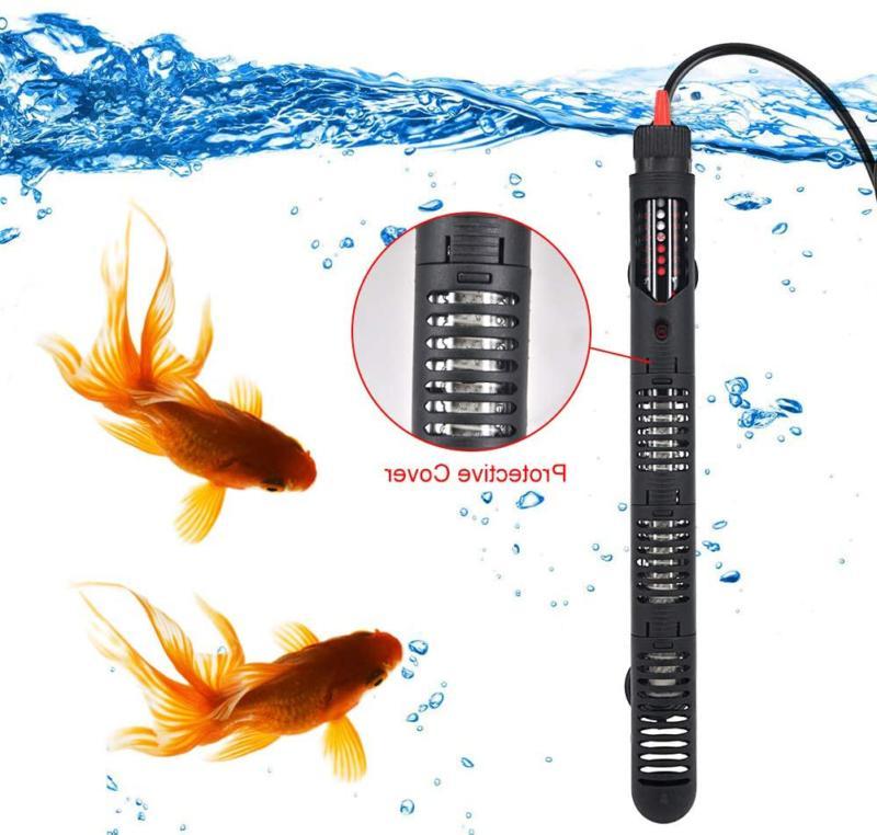 Aquarium Heater Submersible 200W 30-75 Gallon Tank Warmer Thermostat