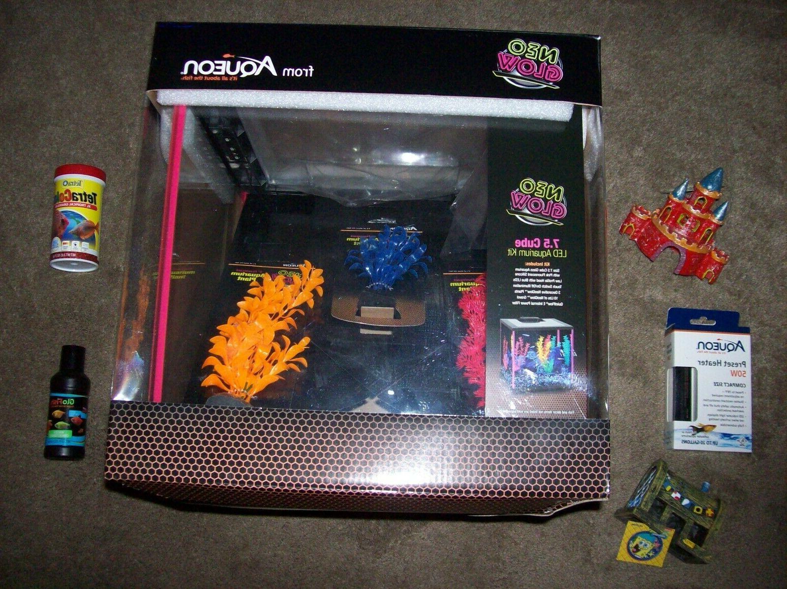 aqueon neoglow aquarium kit cube 7 5