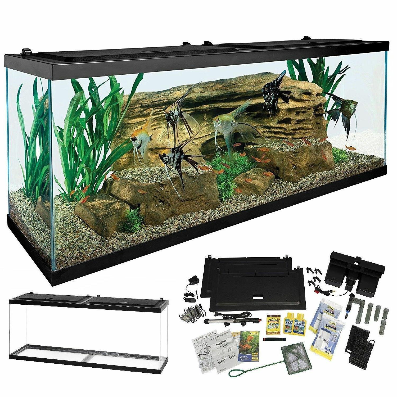 complete 55 gallon aquarium kit large led