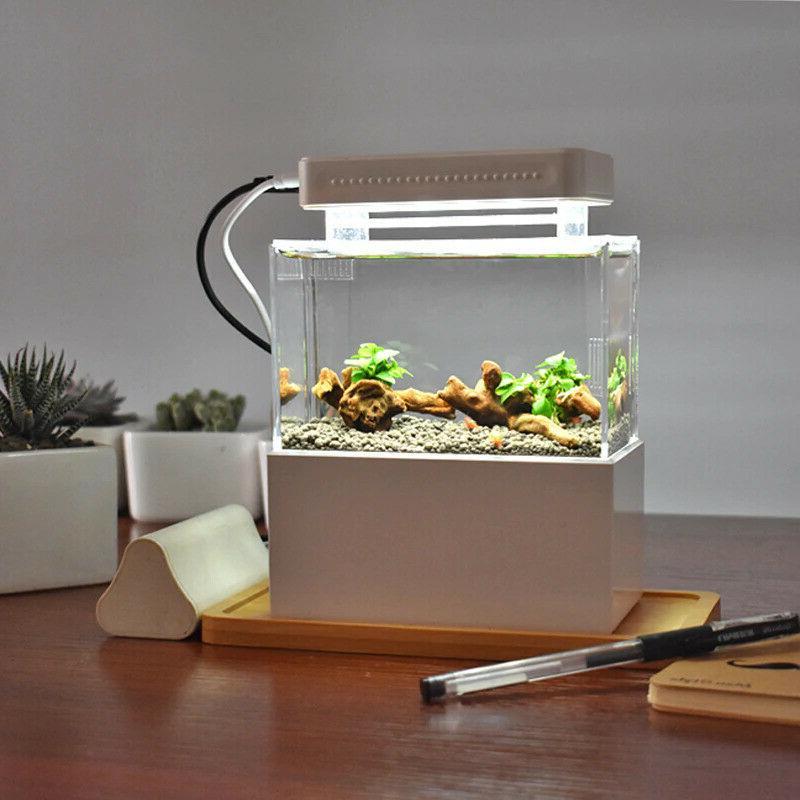 Fish Aquarium Betta Bowl Water Filtration Quiet Air