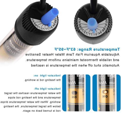 FREESEA 25/50/100/200/300 Heater with Aquarium Submersible Thermom