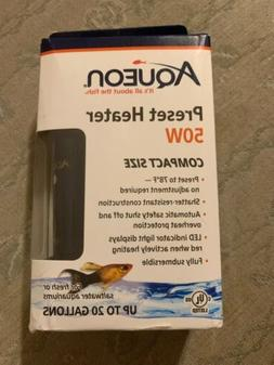 Preset Heater: 50W Compact Size For Aquariums New) Up To 20